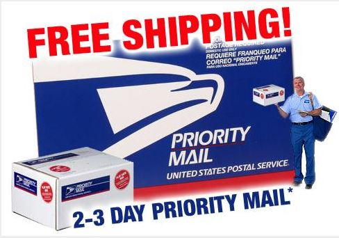 Free Priority Mail Domestic Shipping